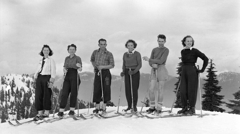 Skifahren in Lech am Arlberg.