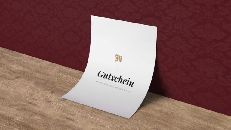 Gutschein hotel madlochBlick.