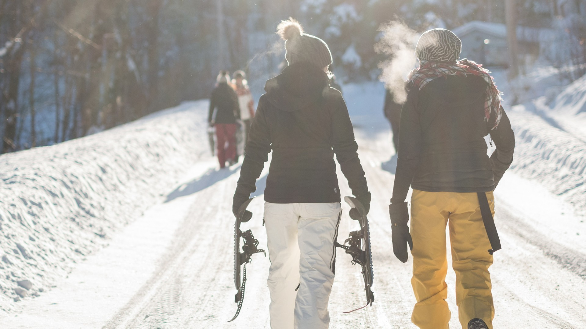 Schneeschuhwanderung.