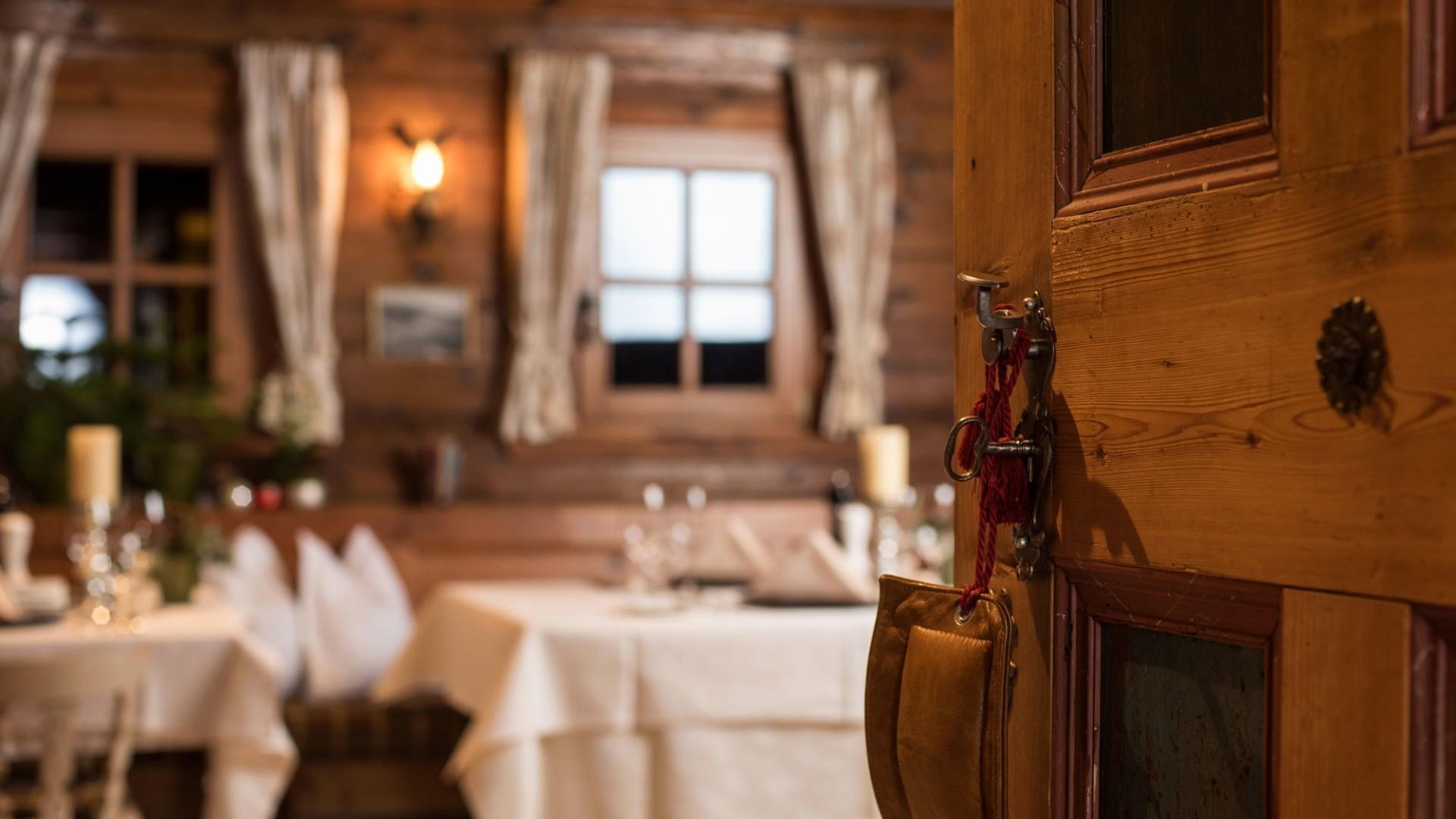 Das Restaurant Walser Stube im hotel und chalet madlochBlick in Lech am Arlberg.