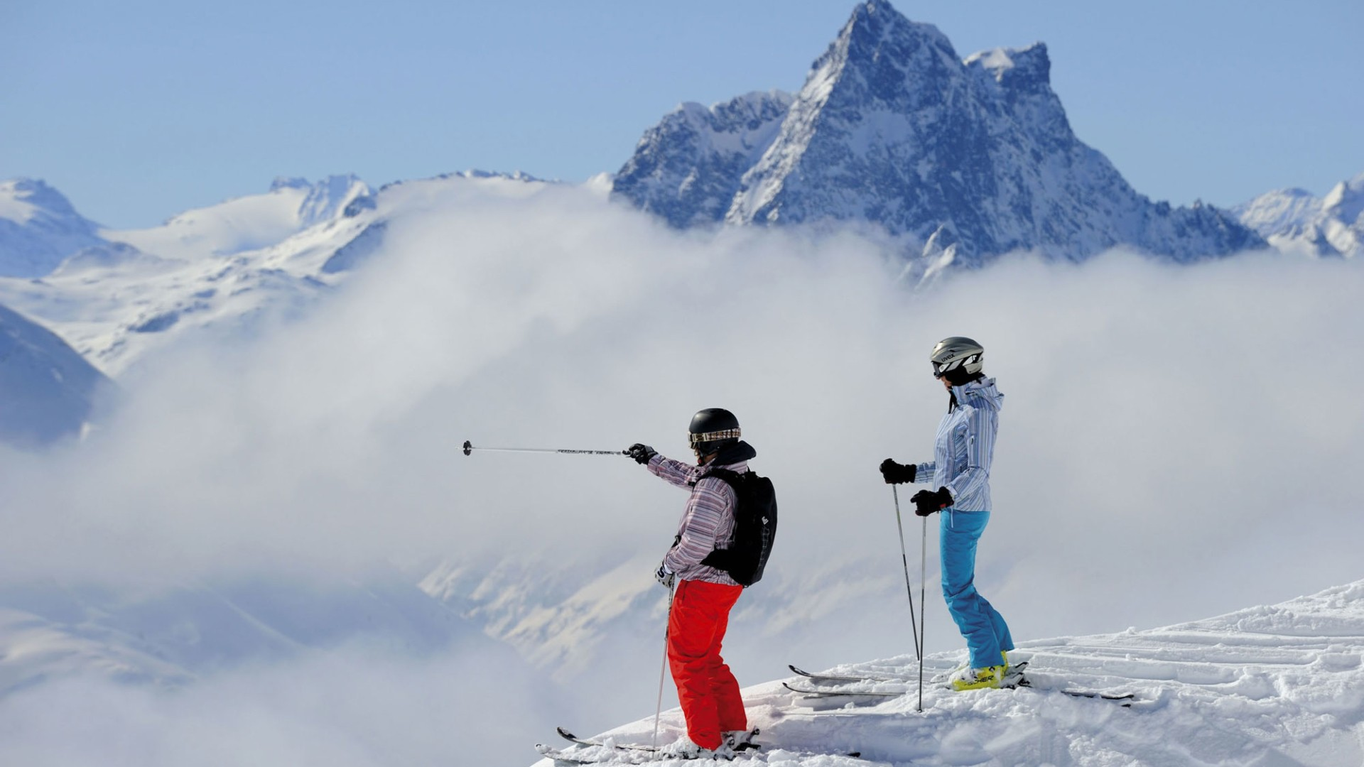 Skifahrer am Arlberg.