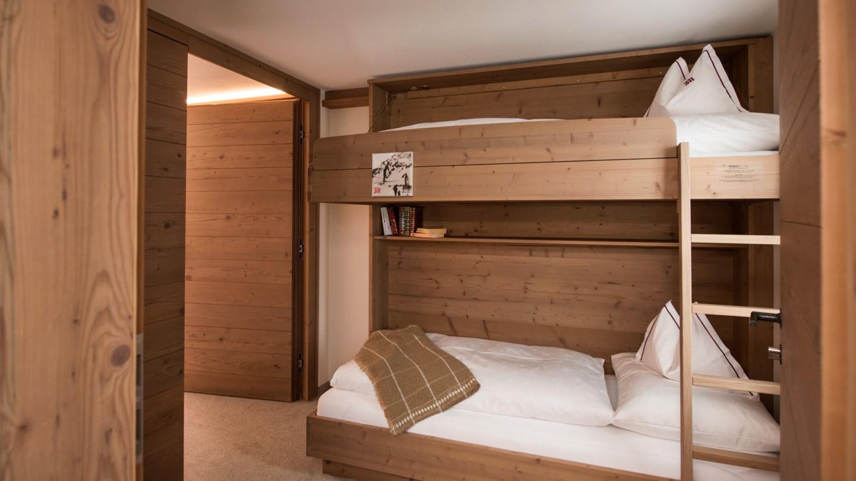 Stockbett im Familienzimmer BergBlick im Hotel und Chalet madlochBlick.