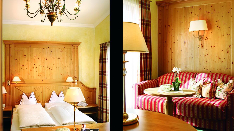 Doppelzimmer Lechpanorma im Hotel und Chalet madlochblick in Lech am Arlberg.