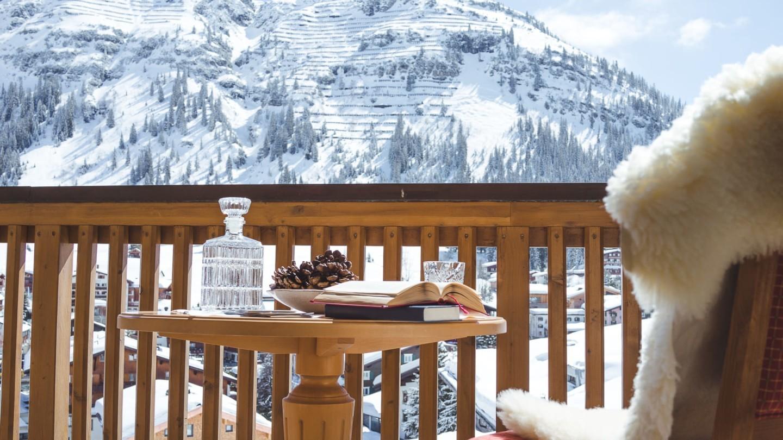 Aussicht vom Balkon der Suite Rüfikopf im hotel & chalet madlochBlick.