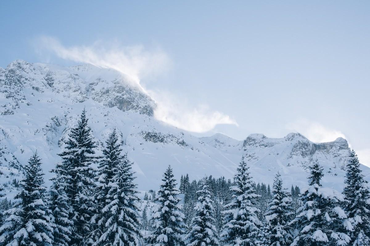 Lech im Winter.